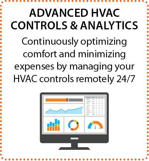 Continuously optimizing comfort and minimizing expenses by managing your HVAC controls remotely 24/7