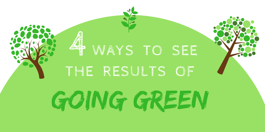 4 Ways To See The Results of GOING GREEN